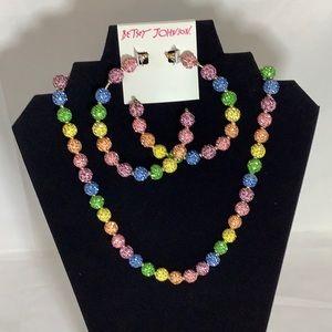 NWT Betsey Johnson necklace earring bracelet